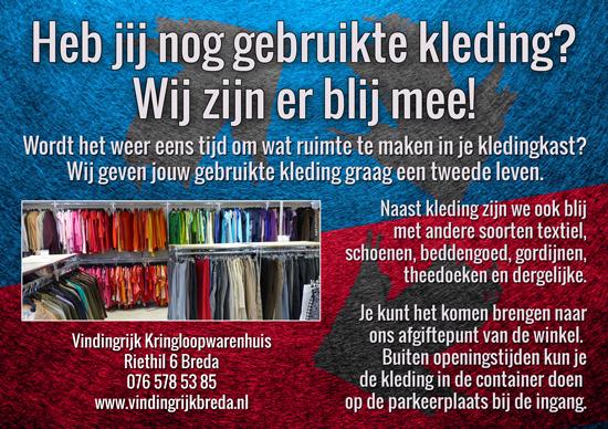 gebruikte kleding inleveren Vindingrijk kringloop Breda