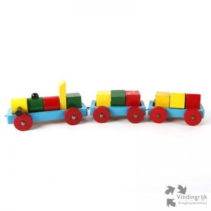 Vintage Speelgoed Trein treinen pull along brick train foreign