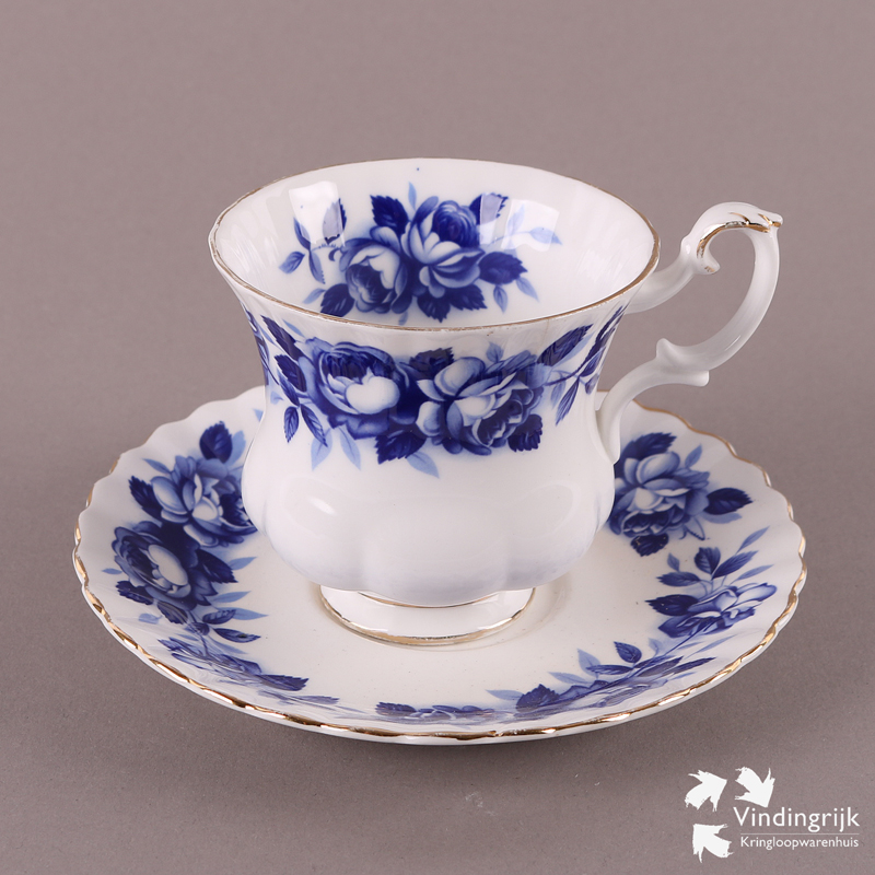 Royal Albert Servies Wit.Kop En Schotel Royal Albert Aristocrat