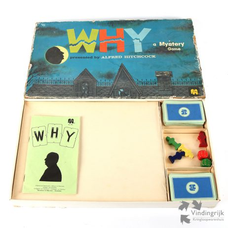 Why (a Mystery Game) Bordspel Jumbo 1962 alfred hitchcock cluedo