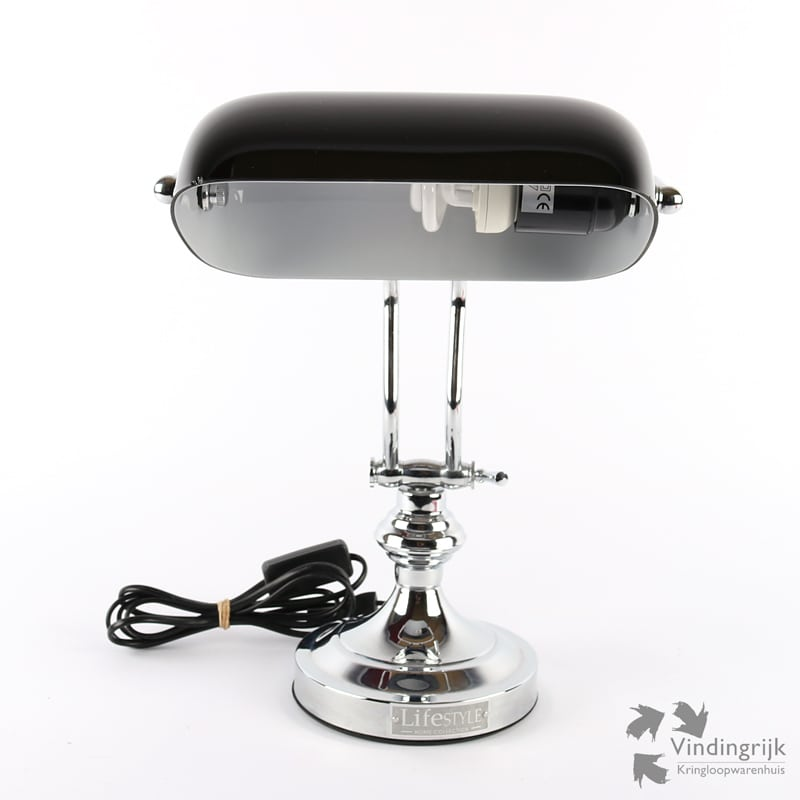 notarislamp van lifestyle home collection retro lamp lampen verlichting metaal glas interieur