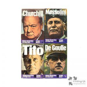 Ballantine's Illustrated Historyof the Violent Century is een uitgave van Ballantine Books uit het begin van de jaren '70. Hier 4 pockets in de originele Amerikaanse uitgave in de serie War Leader: Churchill, Mussolini, Tito en De Gaulle.