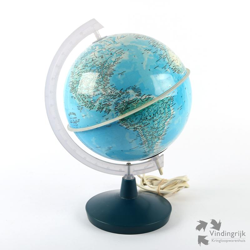 Kleine Globe met Verlichting - Vindingrijk Kringloopwarenhuis Breda