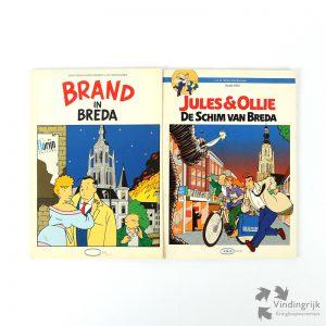 stripverhaal stripboek KBU Jules en Ollie stedenstripreeks Brand in Breda De schim van Breda