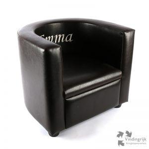 kinderfauteuil kunstleder Emma stoel fauteuil kinderstoel