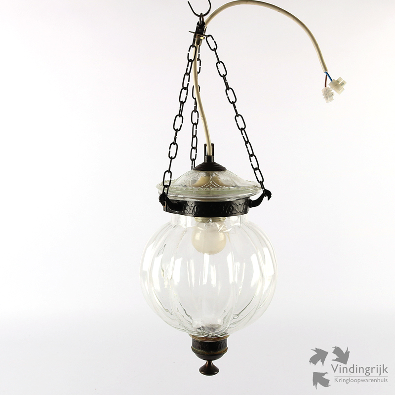 Glazen Hanglamp - Vindingrijk Kringloopwarenhuis Breda