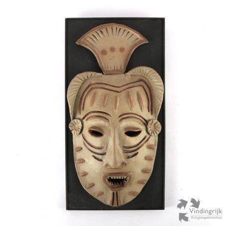 handgemaakt masker aardewerk plaat hout