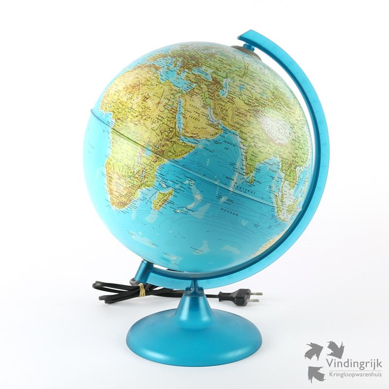 Globe met Verlichting Italië - Vindingrijk Kringloopwarenhuis Breda