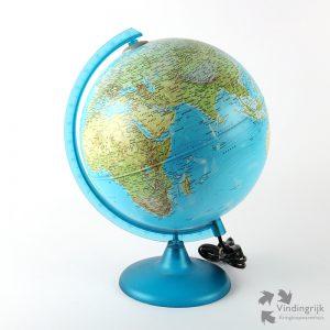 globe wereldbol aarde verlichting topografie sfeerlicht