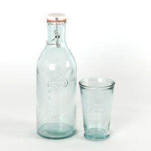 jamie oliver waterfles glas
