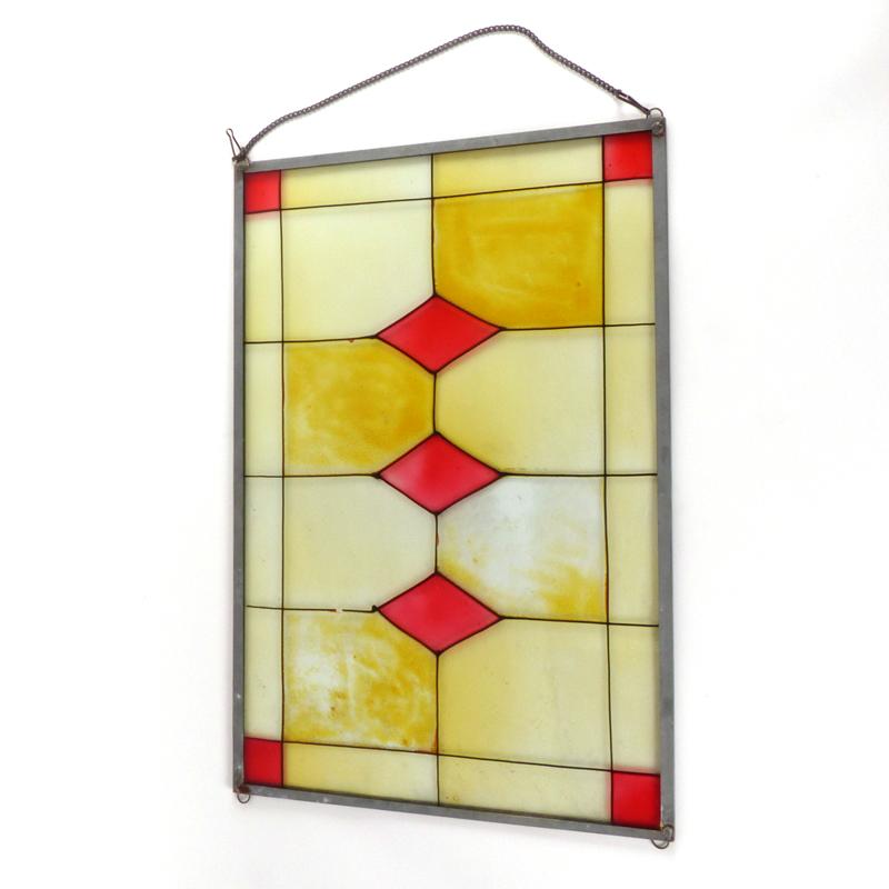 raamdecoratie glas in lood vindingrijk