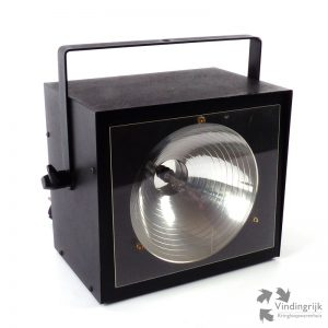 krachtige stroboscoop lamp flitslamp metaal zwart krachtig feest flits