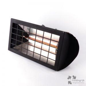 elektrische terrasverwarmer metaal zwart beugel muurbeugel warm