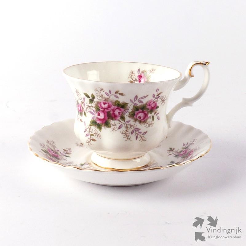Royal Albert Servies Lavender Rose.Kop En Schotel Royal Albert Lavender Rose Vindingrijk