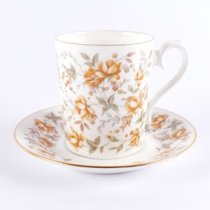 kop en schotel royal albert orange taffeta bone china england engeland 1982