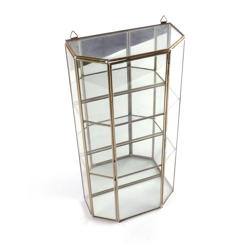 Klein Glazen Vitrinekastje.Klein Glazen Vitrine Kastje Vernstok