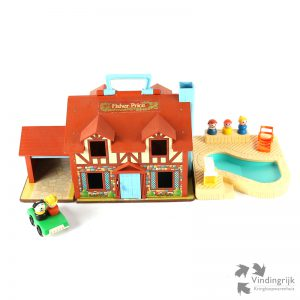 Vintage Fisher Price Play Family House # 952 zwembad