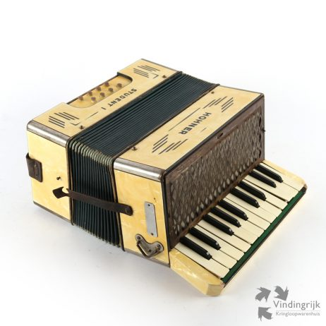 antieke accordeon Hohner student I vintage antiek instrument