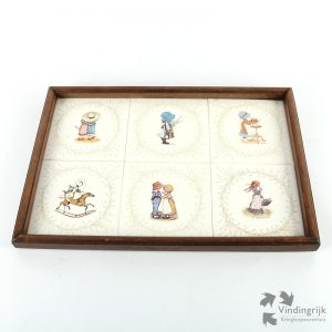 Set Ingelijste Vintage Holly Hobbie Tegels