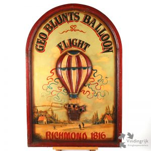 Houten Pubbord Geo Blunts Balloonflight Richmond 1816
