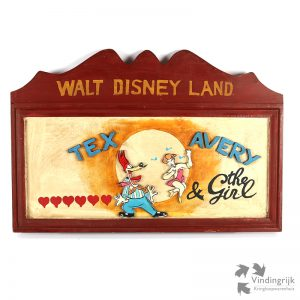 Houten Wanddecoratie Tex Avery & the Girl walt disneyland