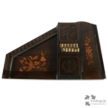 Antieke Muller Accordzither Erato citer snaarinstrument