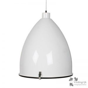 grote industriële metalen hanglamp Dome wit lamp XL metaal blender industrieel