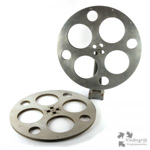set vintage metalen cinema filmspoelen Verenigde Staten USA Colorado bioscoop film reel filmspoel Denver filmrol