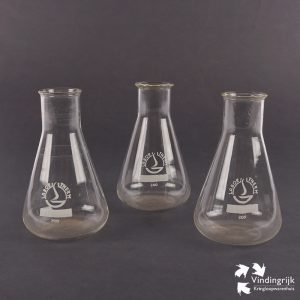 set glazen erlenmeyer laboratorium glaasjes glas labor therm 200ml laboratorium wijdmonds maatverdeling