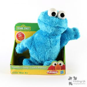 aqueeze a song Cookie Monster Sesamstraat Playskool zingen